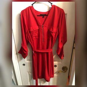 EXPRESS- Long Sleeve Pocket Shirt Dress